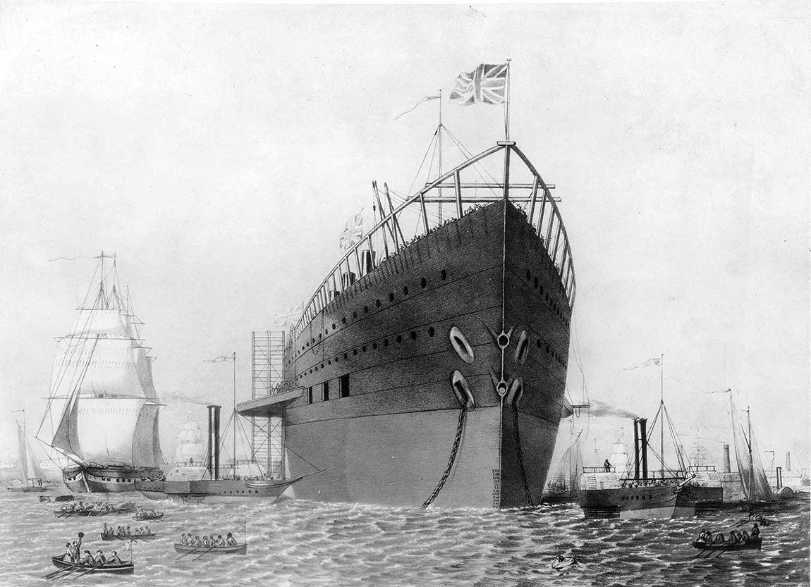 Самый большой и самый неудачный корабль 19-го века с интересной историей