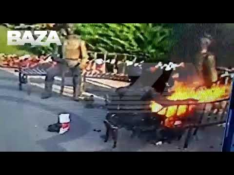 «Журналист не выдержал»: Видео самосожжения нижегородской журналистки у здания ГУ МВД опубликовано в интернете