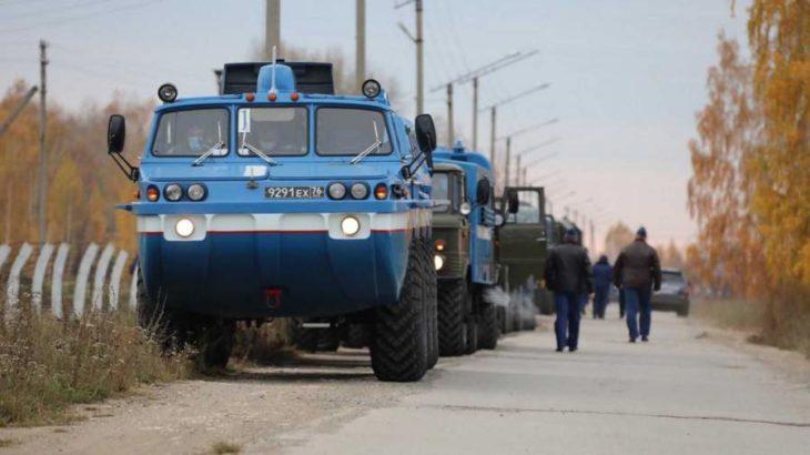 Поисковые машины выдвинулись в район посадки «Союза» с киноэкипажем